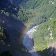 黒部ダムの虹